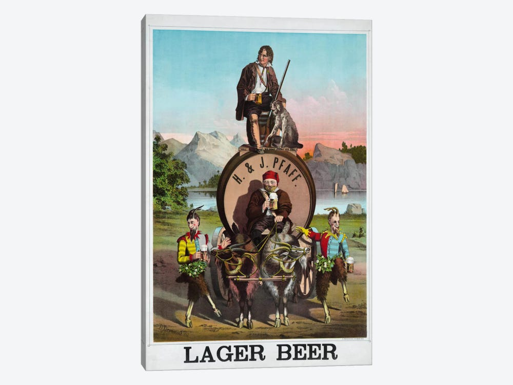 Lager Beer by Print Collection 1-piece Canvas Wall Art