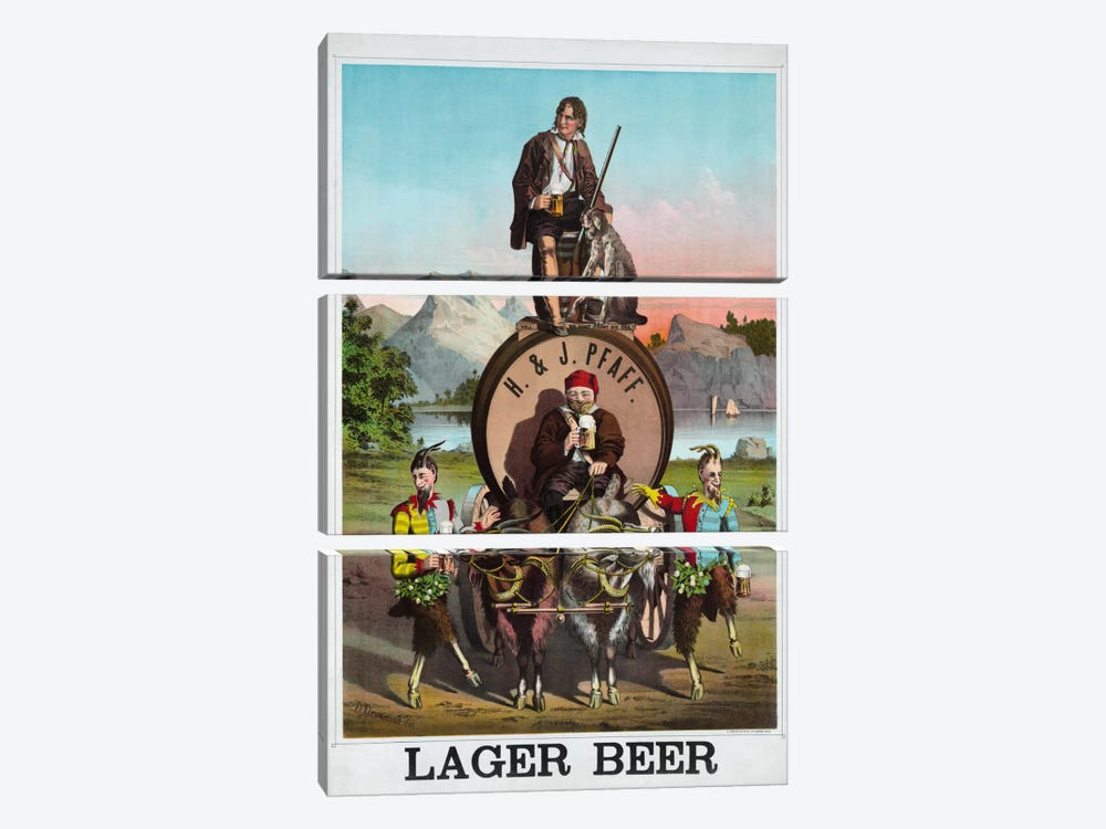 Lager Beer by Print Collection 3-piece Canvas Artwork