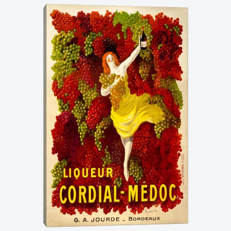 Liquer Cordial-Médoc, G. A. Jourde - Bordeaux Canvas Print #PCA354} by Print Collection Canvas Artwork
