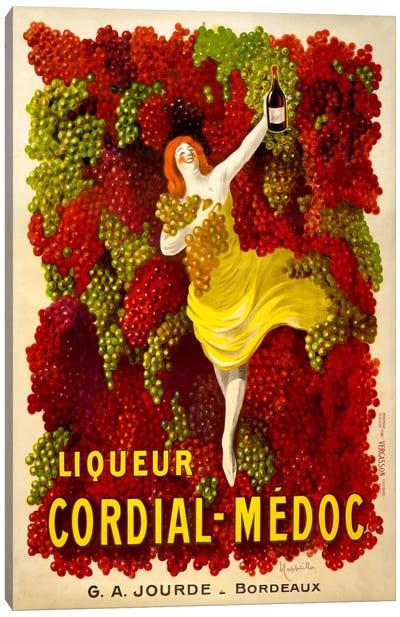 Liquer Cordial-Médoc, G. A. Jourde - Bordeaux Canvas Art Print