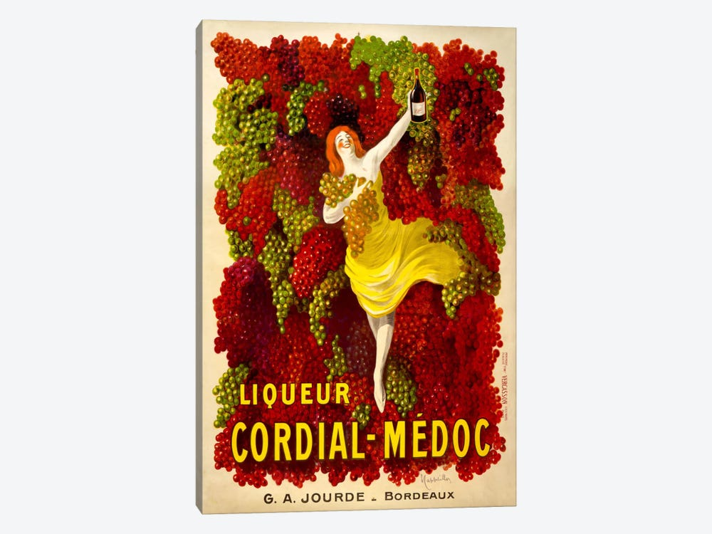 Liquer Cordial-Médoc, G. A. Jourde - Bordeaux 1-piece Canvas Wall Art