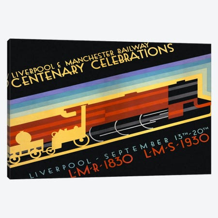 Liverpool & Manchester Railway Canvas Print #PCA355} by Print Collection Canvas Artwork