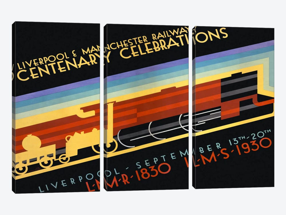 Liverpool & Manchester Railway by Print Collection 3-piece Art Print