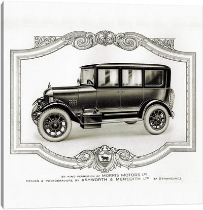 Morris Motors Automobile, from Penrose Annual Canvas Print #PCA358
