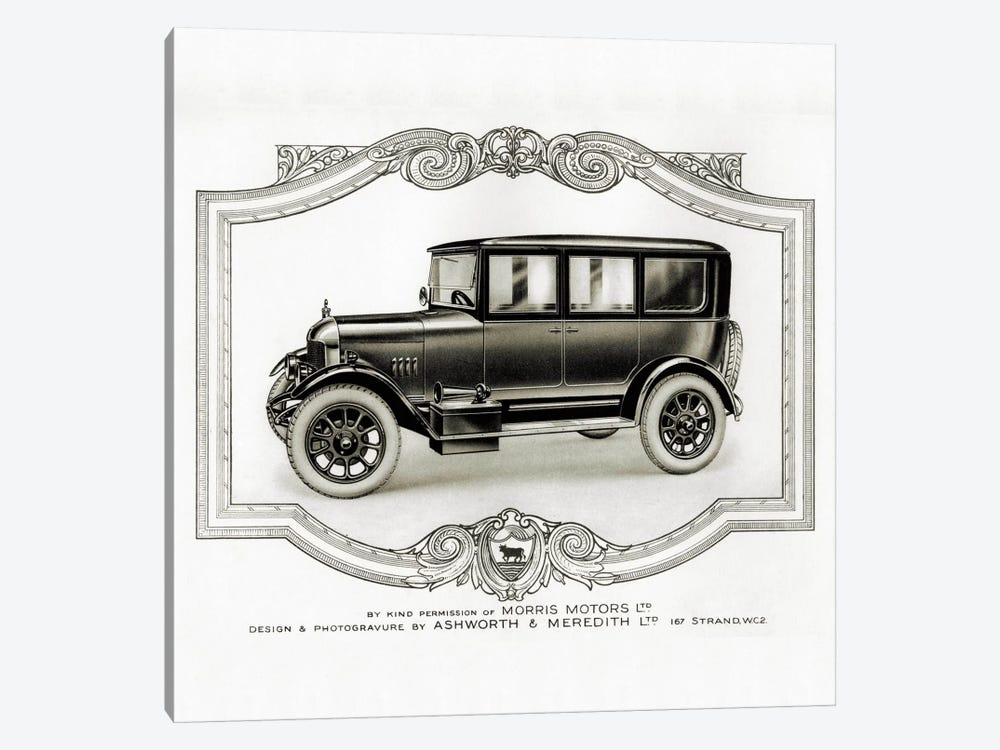Morris Motors Automobile, from Penrose Annual by Print Collection 1-piece Canvas Wall Art