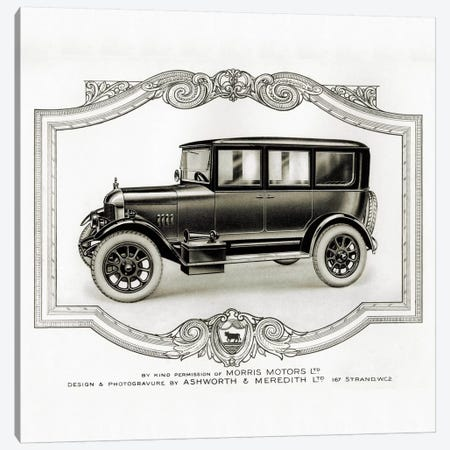 Morris Motors Automobile, from Penrose Annual 3-Piece Canvas #PCA358} by Print Collection Canvas Art Print