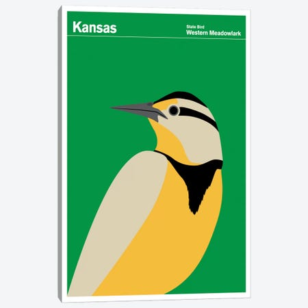 State Posters KS Canvas Print #PCA35} by Print Collection Canvas Art