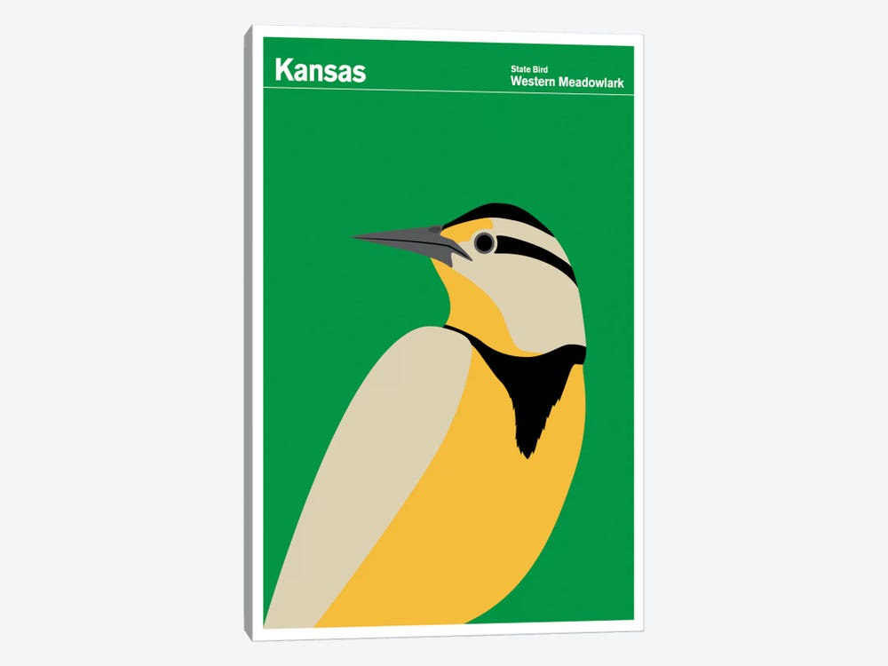 State Posters KS by Print Collection 1-piece Art Print