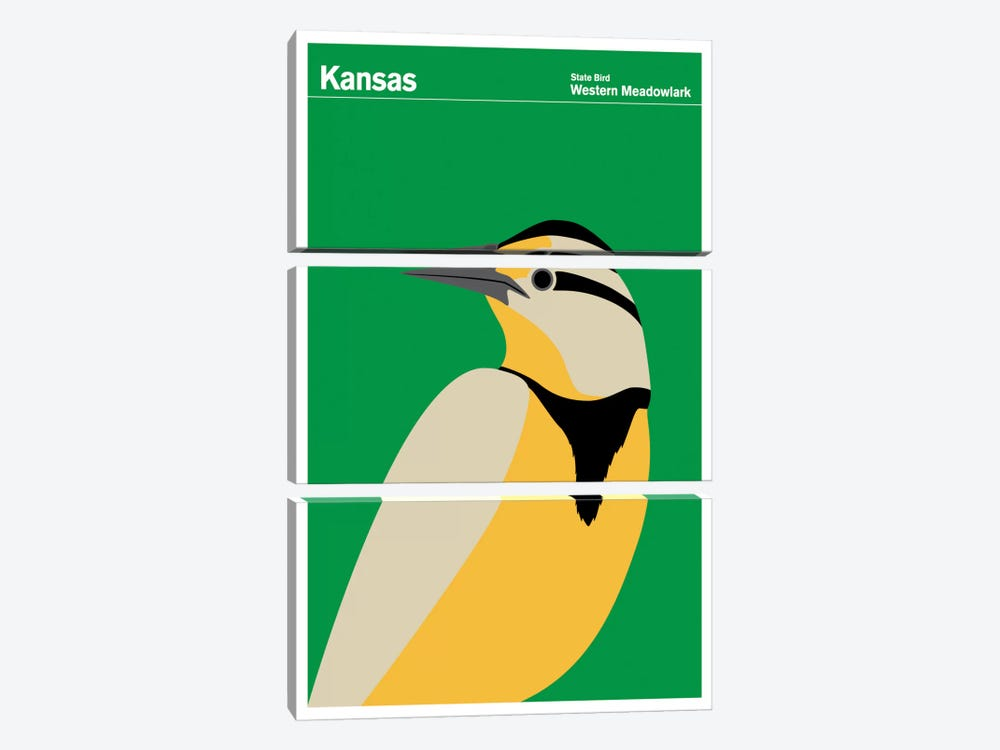 State Posters KS by Print Collection 3-piece Art Print
