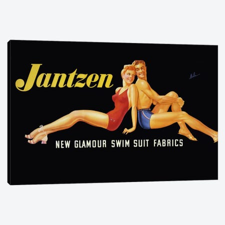 New Glamour Swim Suit Fabrics Canvas Print #PCA362} by Print Collection Canvas Art