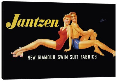 New Glamour Swim Suit Fabrics Canvas Art Print