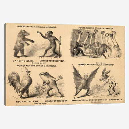 Older's Museum, Circus & Menagerie Canvas Print #PCA365} by Print Collection Canvas Print