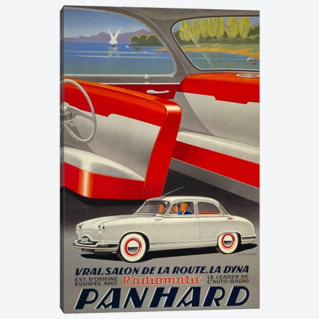Panhard Automobiler by Mediterranean Beach Canvas Print #PCA366} by Print Collection Canvas Print