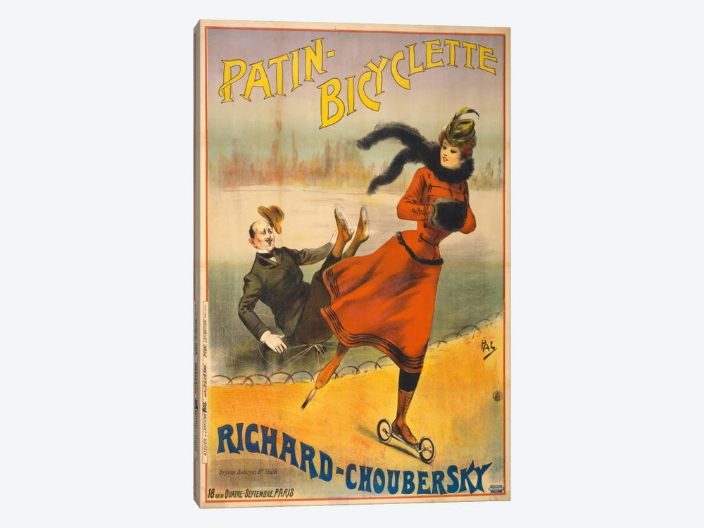 Patin-Bicyclette - Richard-Choubersky by Print Collection 1-piece Canvas Wall Art