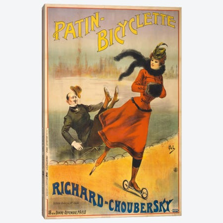 Patin-Bicyclette - Richard-Choubersky Canvas Print #PCA367} by Print Collection Art Print