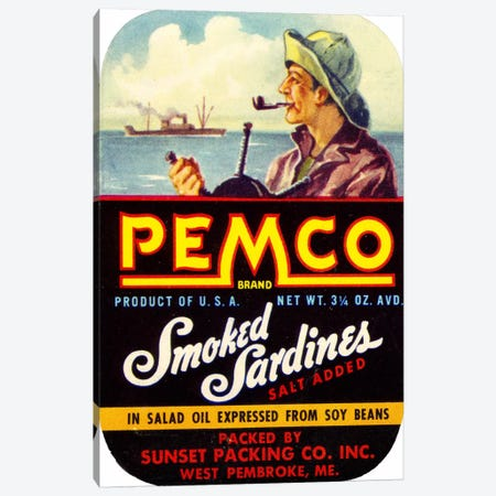 Pemco Brand Smoked Sardines Canvas Print #PCA368} by Print Collection Canvas Wall Art