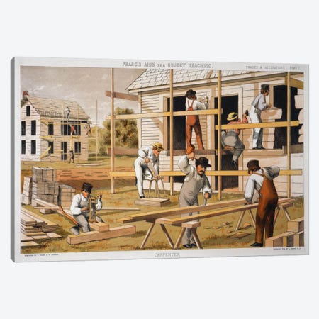 Prang's Carpenter Aid Canvas Print #PCA369} by Print Collection Canvas Artwork