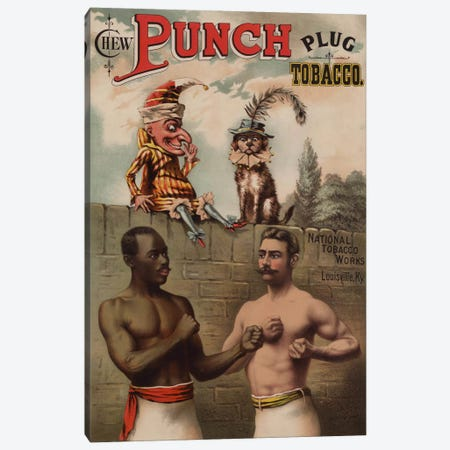 Punch and Chew, 1886 Canvas Print #PCA370} by Print Collection Canvas Print