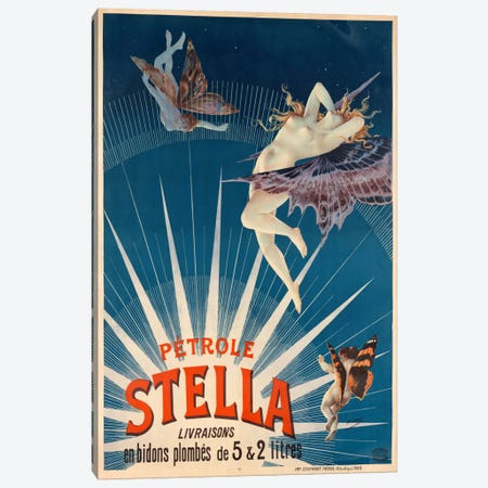 Pétrole Stella Canvas Print #PCA372} by Print Collection Canvas Print