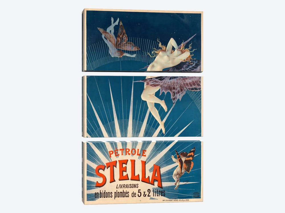 Pétrole Stella by Print Collection 3-piece Canvas Wall Art