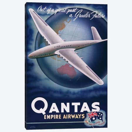Quantas Empire Airways Canvas Print #PCA373} by Print Collection Art Print