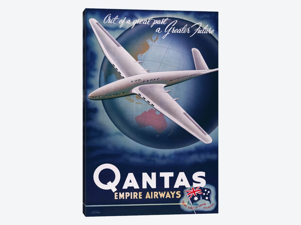 Quantas Empire Airways by Print Collection 1-piece Canvas Art Print
