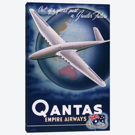 Quantas Empire Airways Canvas Print #PCA373} by Print Collection Art Print