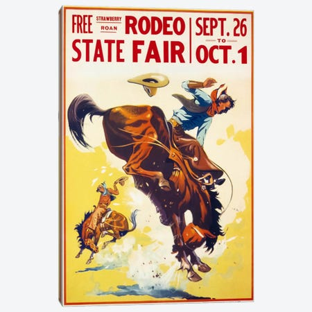 Rodeo State Fair Roan Canvas Print #PCA375} by Print Collection Canvas Wall Art