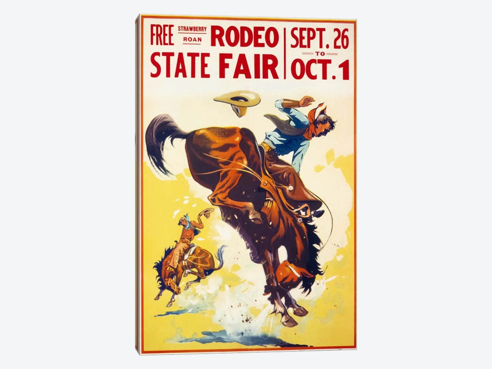 Rodeo State Fair Roan by Print Collection 1-piece Canvas Print