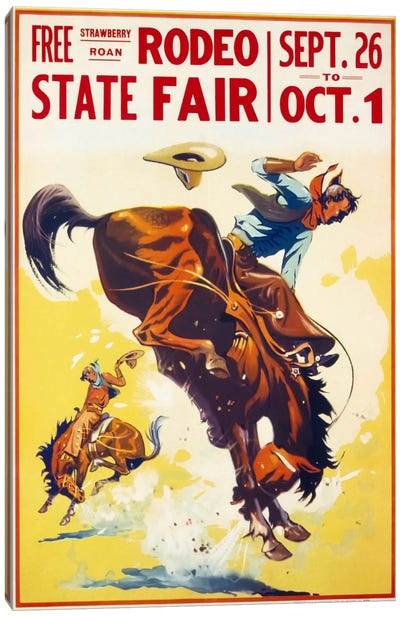 Rodeo State Fair Roan Canvas Art Print