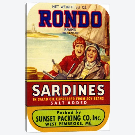Rondo Sardines Salt Added Canvas Print #PCA376} by Print Collection Canvas Art