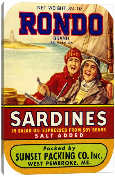 Rondo Sardines Salt Added Canvas Art Print