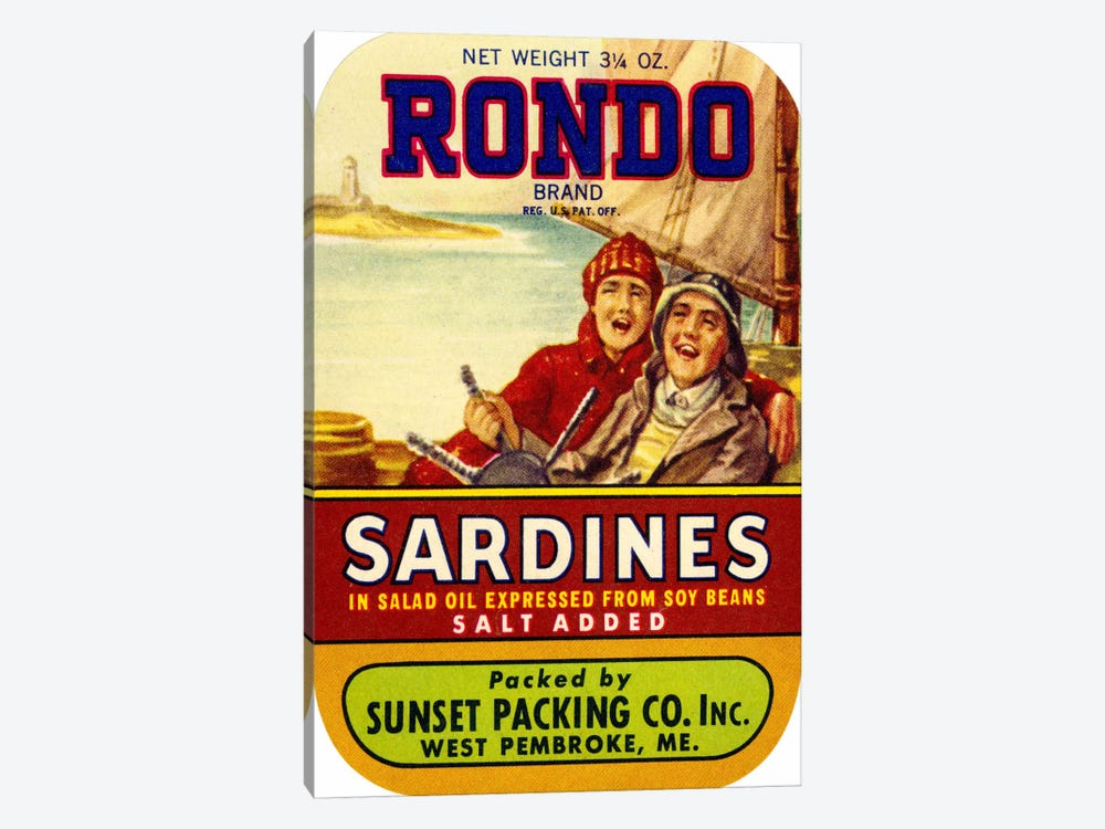 Rondo Sardines Salt Added by Print Collection 1-piece Canvas Artwork