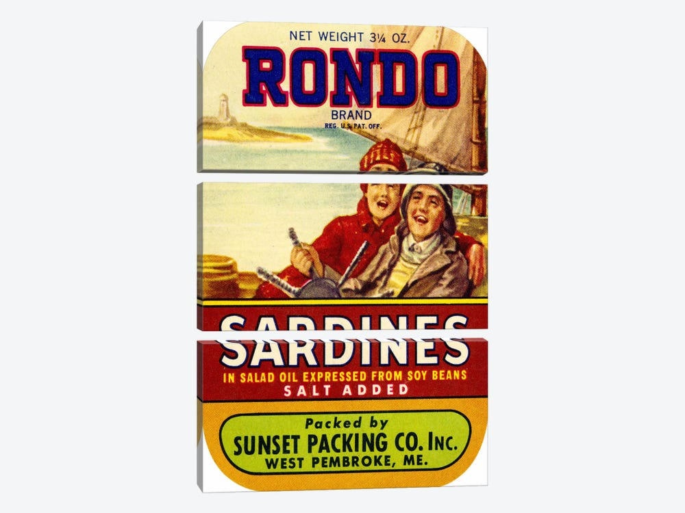 Rondo Sardines Salt Added by Print Collection 3-piece Canvas Wall Art