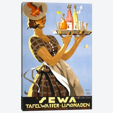 """Sewa"" Tafelwasser-Limonaden Canvas Print #PCA378} by Print Collection Canvas Art Print"