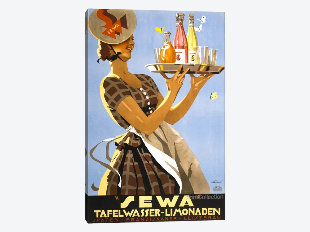 """Sewa"" Tafelwasser-Limonaden by Print Collection 1-piece Canvas Artwork"
