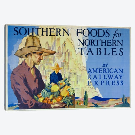 Southern Foods Canvas Print #PCA379} by Print Collection Canvas Art Print