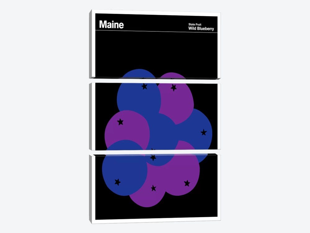 State Posters ME by Print Collection 3-piece Art Print