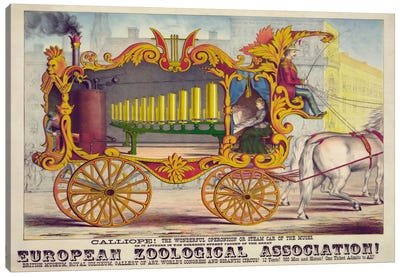 Steam Car of the Muses Canvas Print #PCA380