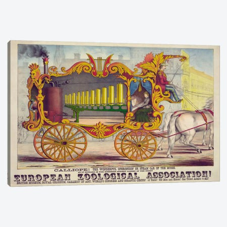 Steam Car of the Muses Canvas Print #PCA380} by Print Collection Canvas Wall Art