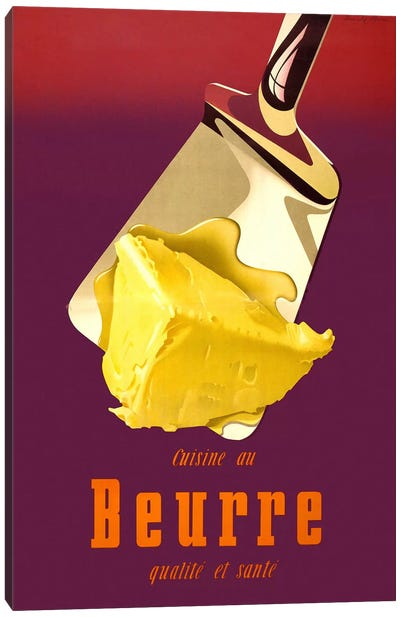 Swiss, Better Butter Canvas Art Print