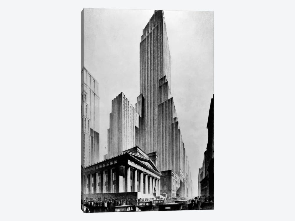 Temples of Commerce, Brown Bros. by Print Collection 1-piece Canvas Print