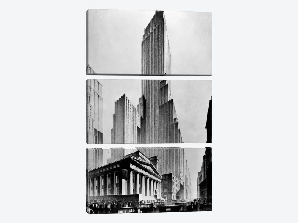 Temples of Commerce, Brown Bros. by Print Collection 3-piece Art Print