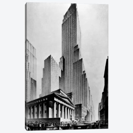 Temples of Commerce, Brown Bros. Canvas Print #PCA382} by Print Collection Canvas Art