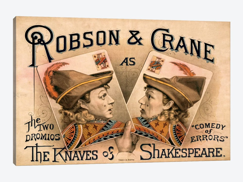 The Knaves of Shakespeare by Print Collection 1-piece Canvas Print