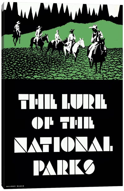 The Lure of the National Parks Canvas Print #PCA387