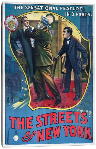 The Streets of New York Play Poster Canvas Art Print