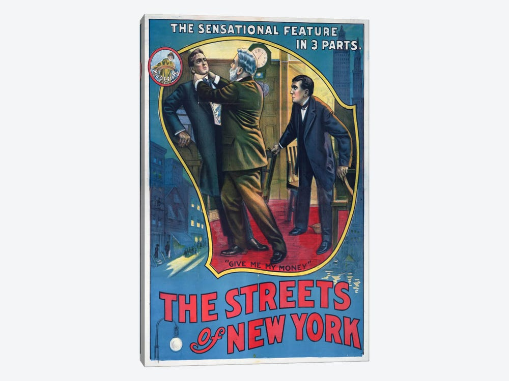 The Streets of New York Play Poster by Print Collection 1-piece Canvas Print