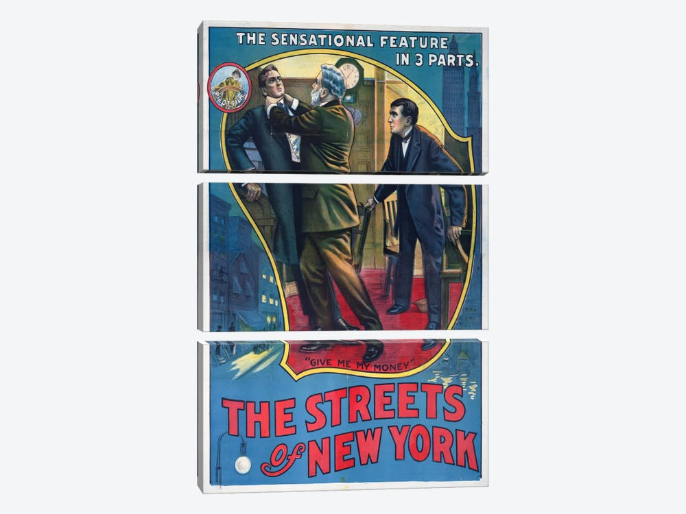 The Streets of New York Play Poster by Print Collection 3-piece Art Print