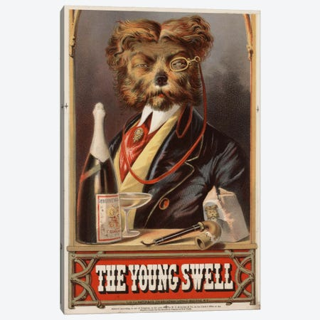 The Young Swell, 1869 Canvas Print #PCA389} by Print Collection Canvas Wall Art